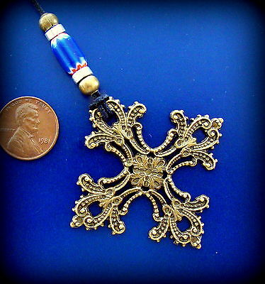 "CROSS Necklace - ANTIQUE MEDIEVAL BYZANTINE STYLE - BYZANTINE MEDIEVAL ""LOOK"""