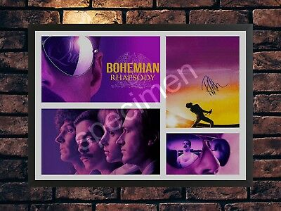 Bohemian Rhapsody 2018 Rami Malek Autograph Movie A4 Photo Signed Print