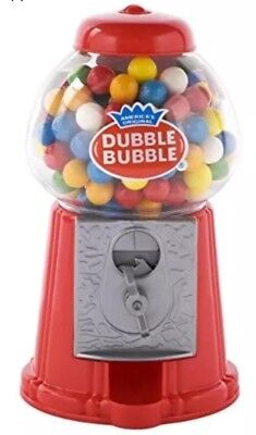 Classic Vintage Bubble Gum Machine Bank 50 Gumballs Included Candy Dispenser Red