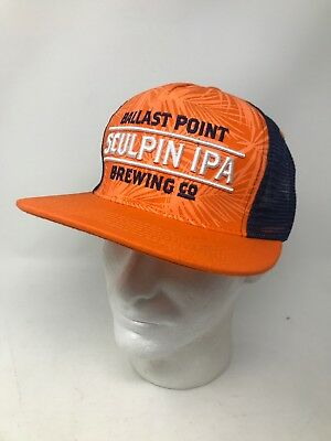 2134f2e100091 BALLAST POINT BREWING Co ~Snap Back~ Beer Hat~ Sculpin IPA~San Diego ...