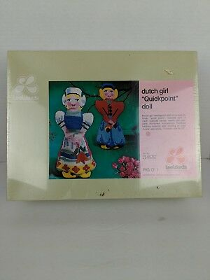 Vintage Leewards Dutch Girl Quickpoint Needlepoint Doll Kit 21 09767 Sealed Box