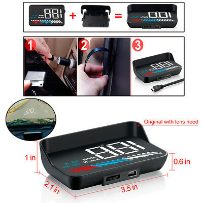 Universal Car OBD GPS HUD Speedometer Voltage Monitor Head Up Display KMH MPH