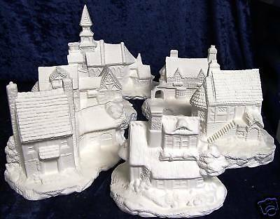 Ceramic Ready to paint Vilage Buildings x6