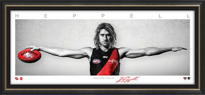 Dyson Heppell Essendon Bombers Signed Framed Signature Series Mini Wings Print