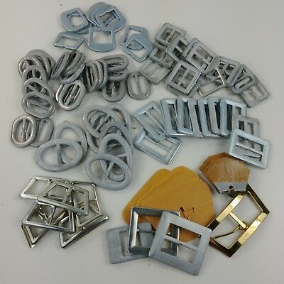 Metal Buckle Button Molds Multiple Sizes Square Oval Rectangular - Qty 60+