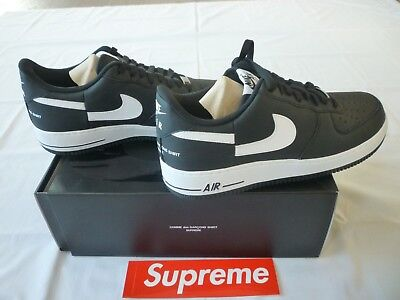 size 40 f5f62 60850 SUPREME X NIKE x CDG Shirt Air Force 1 Low Black Size 12 Brand New F/W 2018