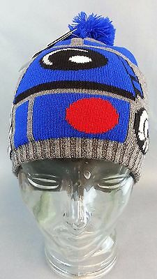NEW STAR WARS R2-D2 knit pom beanie hat cap official licensed edfe69050219
