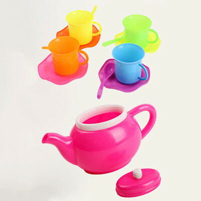 13 Pcs Children Kids Plastic Tea Set Pretend Role Play Toy Dishes Cup House Gift