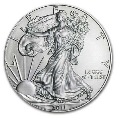 2011 1 oz American Silver Eagle Coin (BU) with Light Spotting