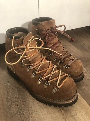 ca4e2bb07e0 VINTAGE VASQUE HIKING Mountaineering Boots Brown Leather Mens 9 C ...