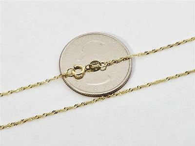 Brilliant Bijou 10k Yellow Gold Carded Cable Rope Chain Necklace 20 inches