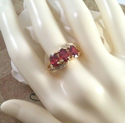 Art Deco Vintage Jewellery Gold Ring Rubies White Sapphires Antique Ruby Jewelry