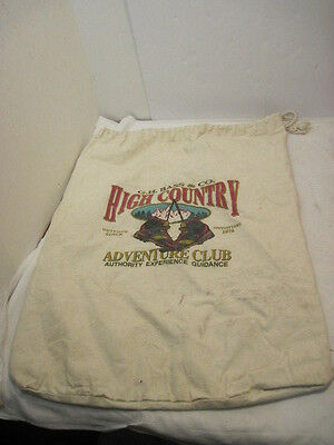 Old High Country Boots Adventure Club Burlap Bag Advertising