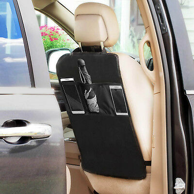 Multi-Pocket Car Back Seat Organizer Storage Bag Protector Kids Child Kick Mat