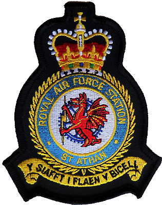 RAF St Athan Royal Air Force MOD Crest Embroidered Patch