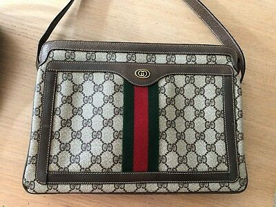 Genuine GUCCI Tan Shoulder Satchel Handbag Accessory Collection vintage