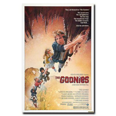 THE GOONIES 12x18 24x36inch 1985 Old Movie Vintage Style Silk Poster Hot
