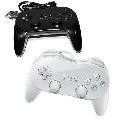 Classic Pro Controller For Nintendo Wii or Wii U White Brand New Nice