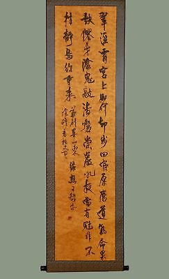 Long Unique Chinese 100% Hand Writing Calligraphy Old Scroll Painting YY48