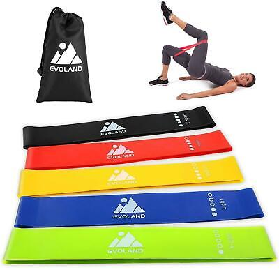 Resistance Bands Loop 5PCS Kit Workout Exercise Fitness Home Gym Yoga Latex Band