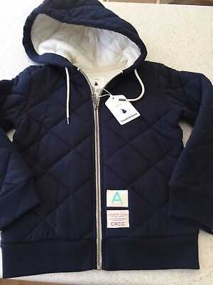 BNWT Country Road Boys Quilted Hoodie Jacket Hood Navy