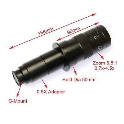 New 180X Digital Camera Zoom C-Mount Lens Objectives for Industry Microscope