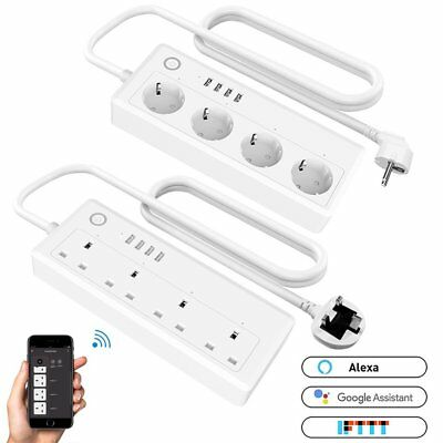 4 Outlet Power Strip Smart WiFi Socket Timing Plug Amazon Google Home Automation