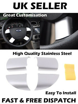 Stainless Steel Car Steering Wheel Decoration Cover Trim Sticker Ford Focus MK2