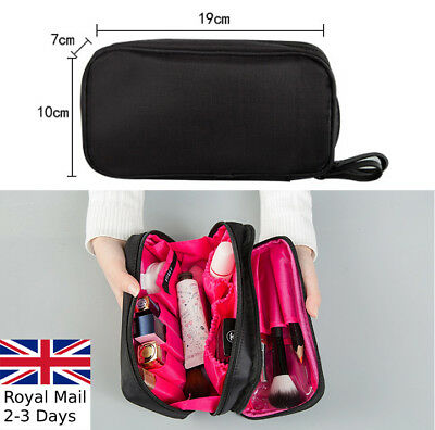 2 Zips Travel Cosmetic Makeup Toiletry Purse Beauty Wash Bag Organizer Pouch