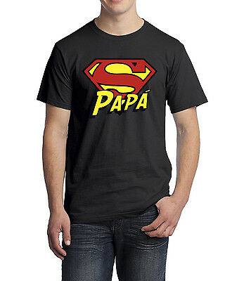 Camiseta SUPER PAPA dia del padre regalo original Superman Superheroe Marvel