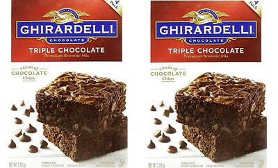 Ghirardelli | Triple Chocolate Brownie Cake Mix, Pack of 4 Batches - 3 x 2.26kg