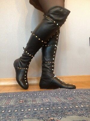 fbab289a8ac Like us on Facebook · Authentic Valentino Rockstud Knee high boots size 38  EU