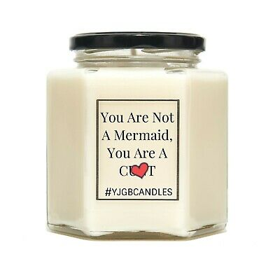 You Are Not A Mermaid, You Are A C*nt, Candles, Candle, Gift For Friend
