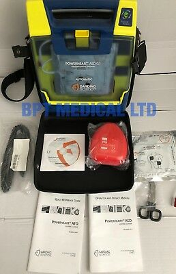 CARDIAC SCIENCE POWERHEART G3 PRO AED + CASE battery cd and more Rescue ready