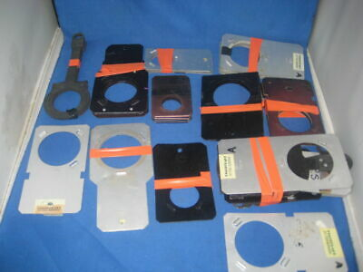 45 approx  GOBO Holders - Mostly ROSCO -  Various Sizes