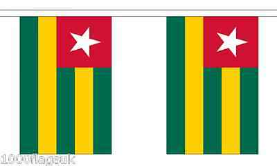 Polyester 3m 6m 9m Metre Length 10 20 30 Flags Zambia Flag Bunting
