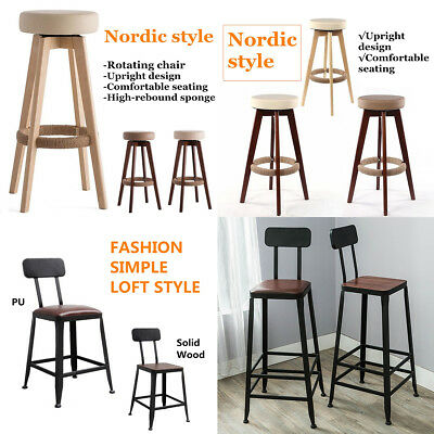 Tremendous Modern Wooden Leather Bar Stool Counter Seat Hotel Home Evergreenethics Interior Chair Design Evergreenethicsorg