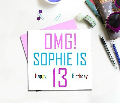 Teenage Birthday Card For Girl 13 14 15 16 17 18 19 Daughter Granddaughter Niece