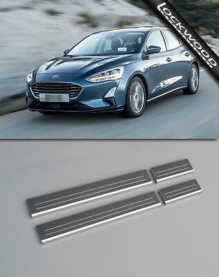 Ford Focus Mk4 (Released 2018) Stainless Sill Protectors / Kick Plates