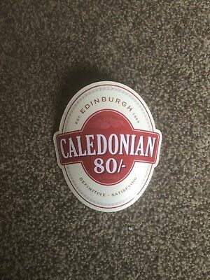 Caledonian 80/- Curved Beer Pump Clip Breweriana Brand New Free Fast P+P
