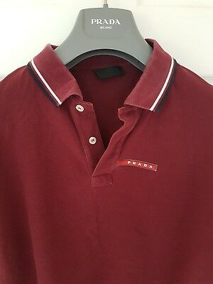 aa523f446 Mens uber chic PRADA short sleeve polo shirt. Size XL/large. Immaculate.