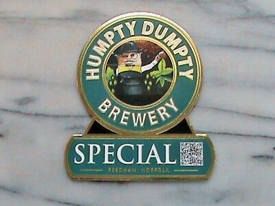 Humpty Dumpty Special real ale beer pump clip sign