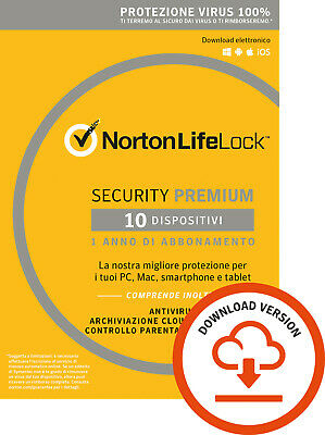 Norton Security 1 - 3 - 5 -10 Dispositivi | 2019 | 1  ANNO !  ESD