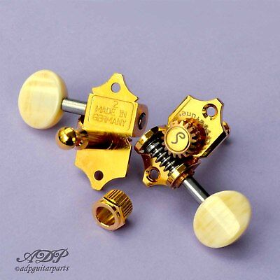 Mecaniques Schaller Grand Tune 3+3 StyleWaverly 1:18 Gold Tuners Polybone Button