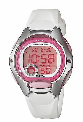 Casio LW200-7AV, Women's Digital Watch, White Resin Band, Chronograph, Alarm