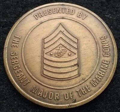VINTAGE Sergeant Major of the Marine Corps SMMC USMC Semper Fi US Challenge Coin