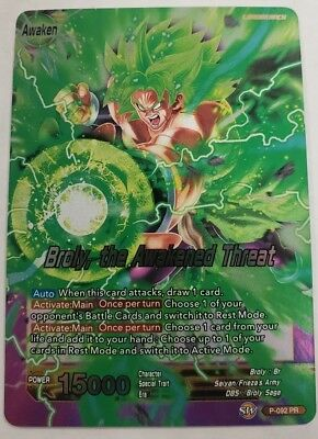 Dragon Ball Super Card Game Broly the Awakened Threat Foil Promo Leader 1x