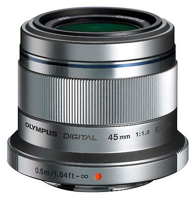 OLYMPUS single-focus lens M.ZUIKO DIGITAL 45mm F1.8 Silver from JAPAN