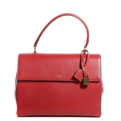 0d760bcea89a Saint Laurent YSL Women s Classic Red Leather Satchel Handbag 355156