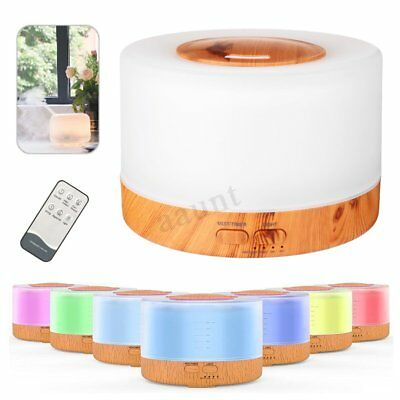 500ML 7LED Aroma Essential Oil Diffuser Ultrasonic Air Humidifier Remote Control